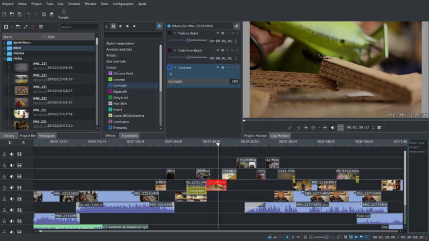 KDEnlive-KDE-Non-Linear-Video-Editor